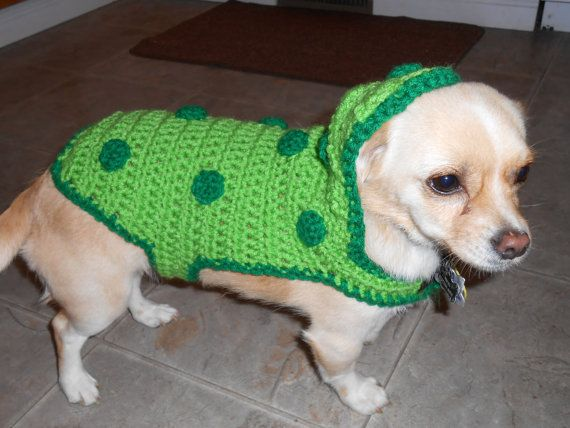 Pickle Costume for Small Dogs - Crochet Pattern