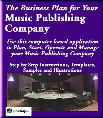 The Business Plan For Your Music Publishing Company  Business