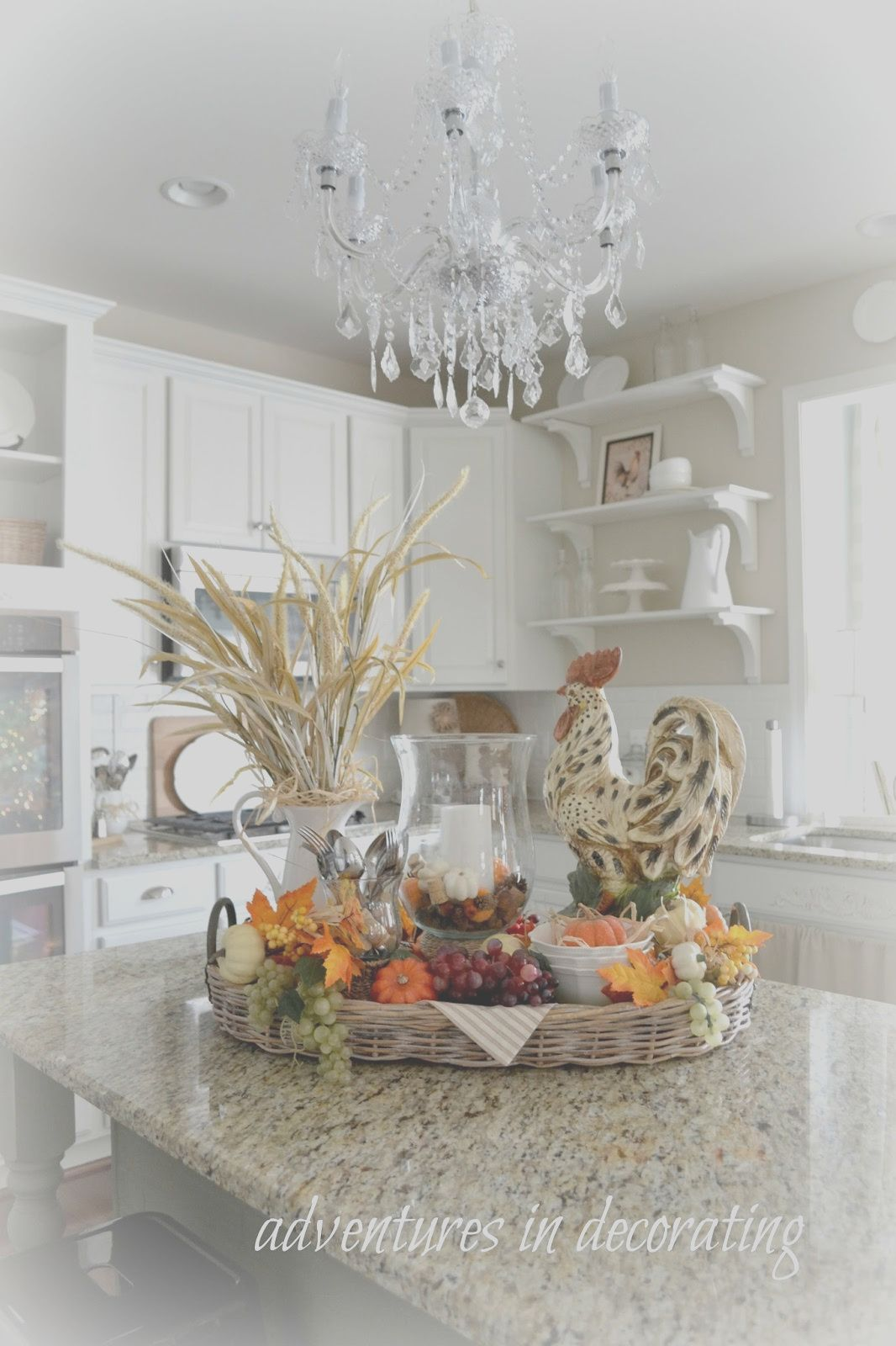 how to decorate a kitchen island for fall