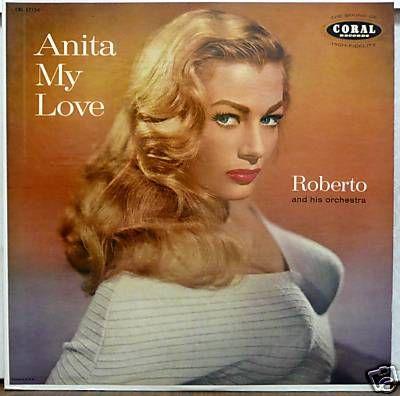 ANITA EKBERG Original 1950's CORAL Cheesecake LP