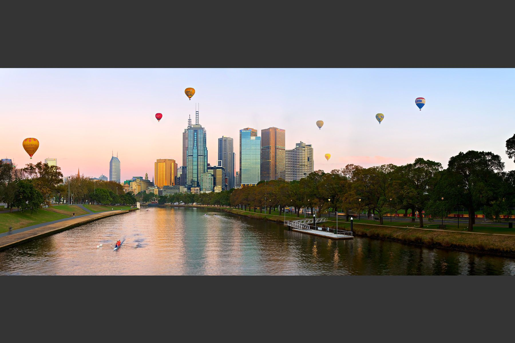 Hot air ballooning over Melbourne Melbourne, Ballooning
