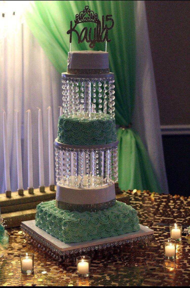 2 tier Wedding Cake Stand / Chandelier Wedding Cake Stand