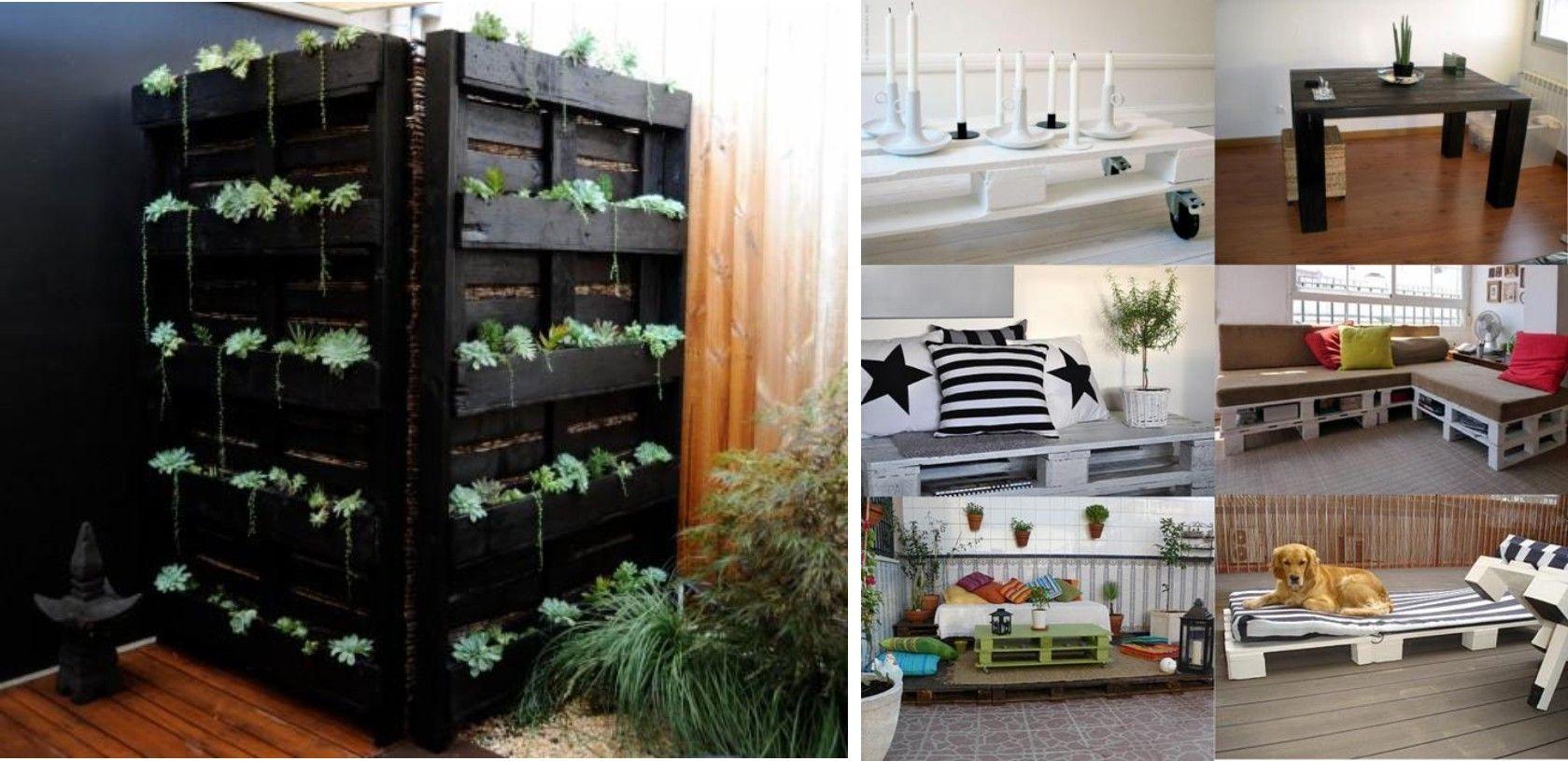 Plantas en palets recicle renew muebles con palets - Palets muebles reciclados ...