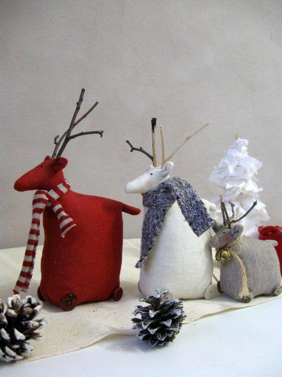 Scandinavian Christmas Decorations Christmas Gnomes And Deer Etsy In 2020 Scandinavian Christmas Decorations Nordic Christmas Primitive Christmas