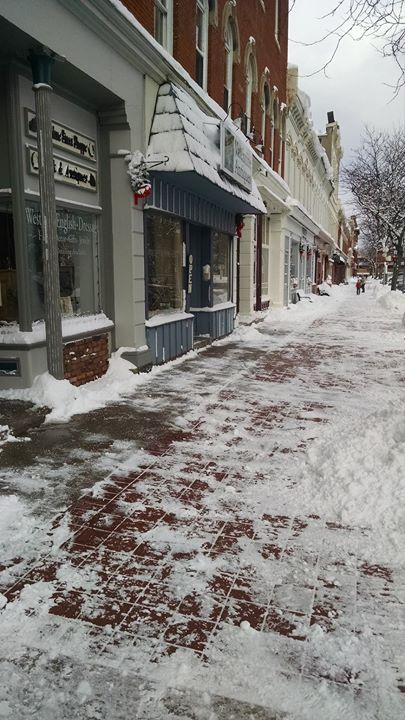 It's cold outside but the sidewalks are shoveled and stores are open!