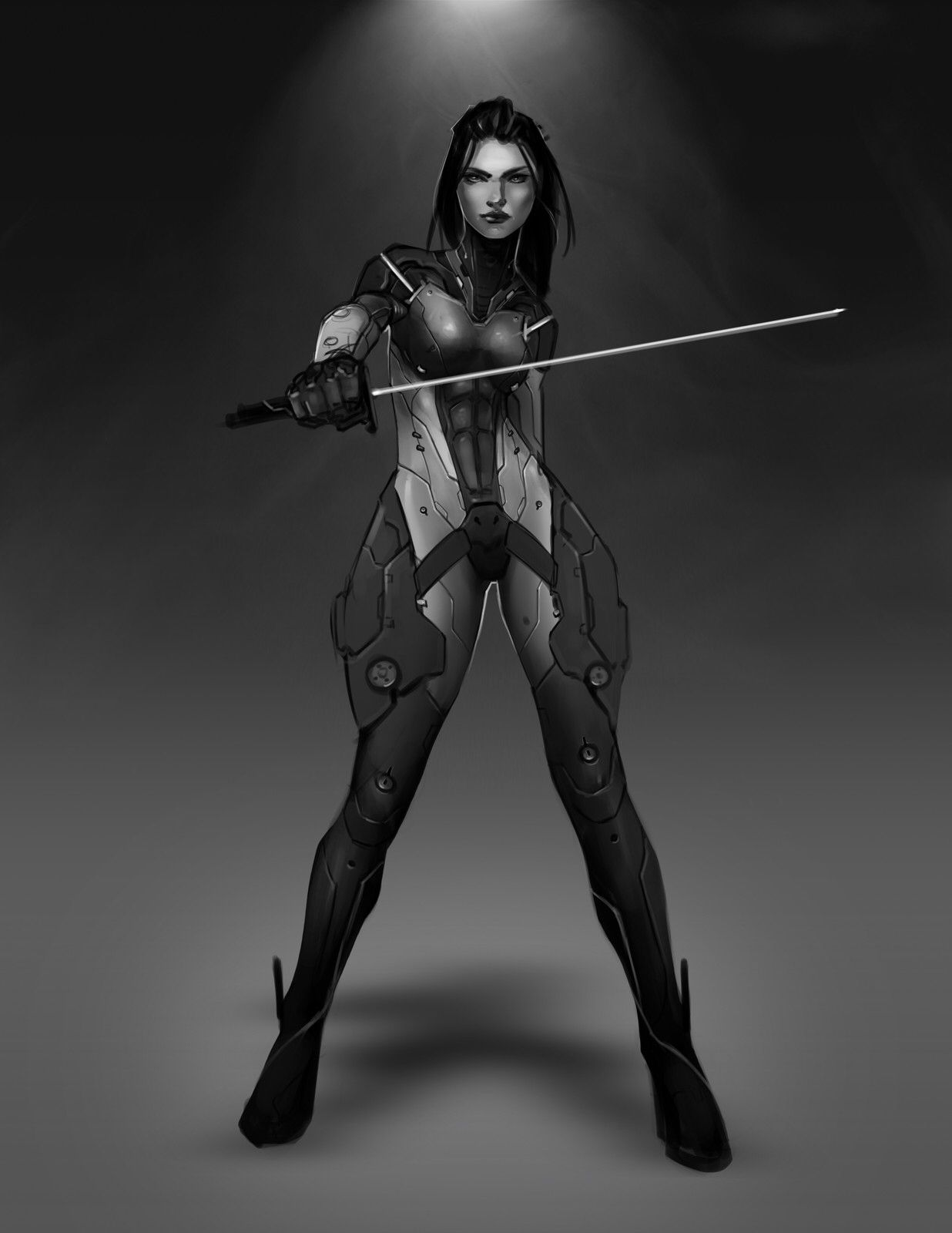 Alien Woman Warrior With Thighs From Outerspace