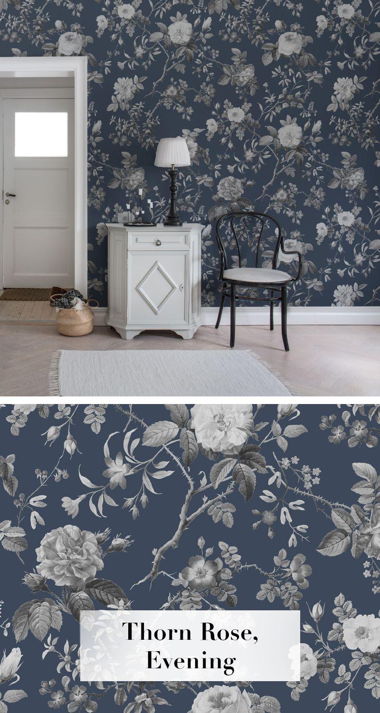 Thorn Rose, Evening  Moderne tapeten, Tapeten wohnzimmer, Tapete