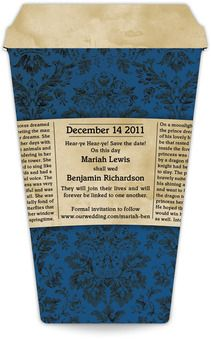 """""""In The News"""" Coffee Cup Save The Date Magnet (3.5"""" x 5.5"""")"""