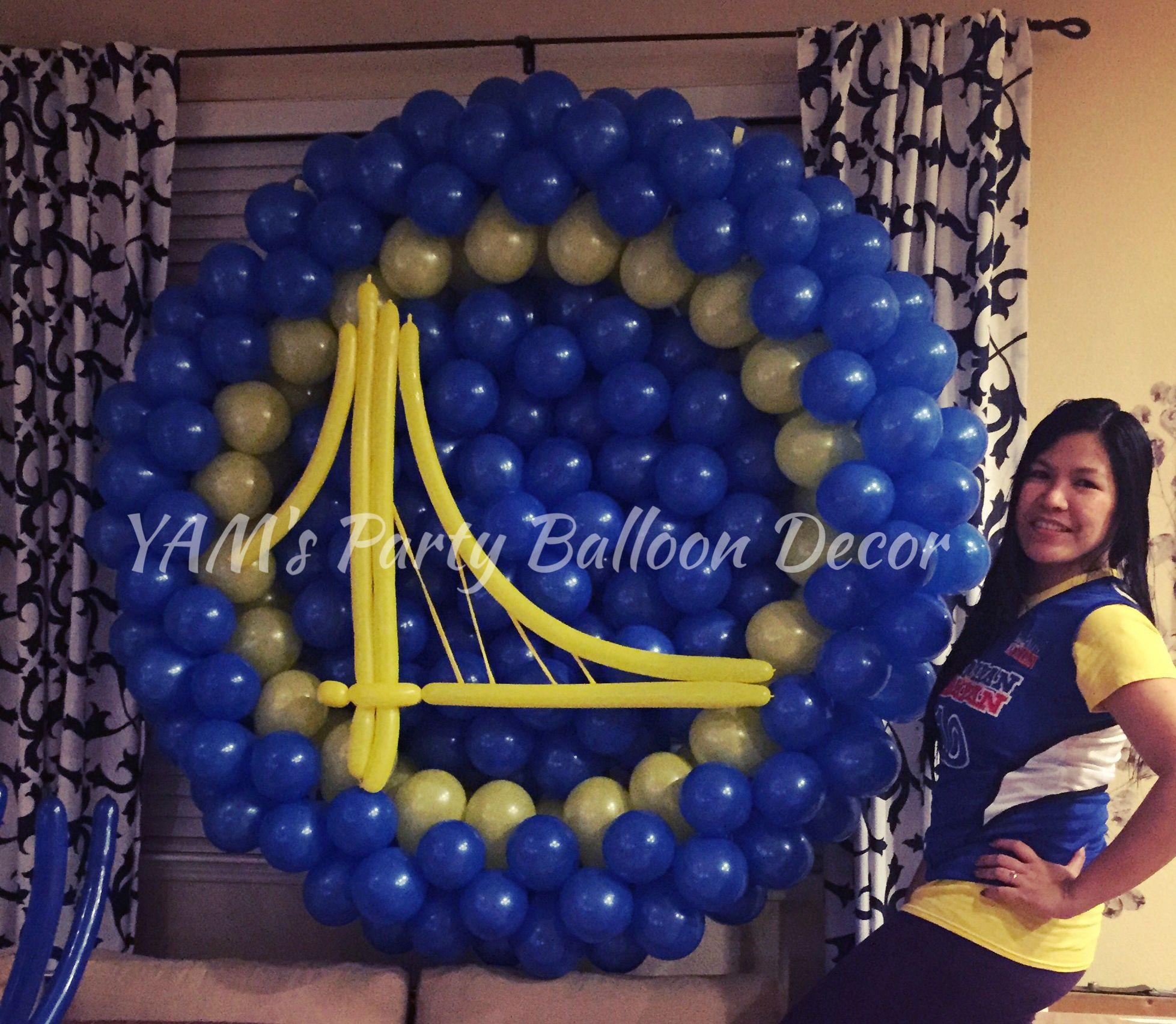 Golden State Warriors Balloon Logo My Balloon Art