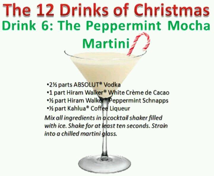peppermint mocha martini and the rest of the 12 drinks of christmas - 12 Drinks Of Christmas