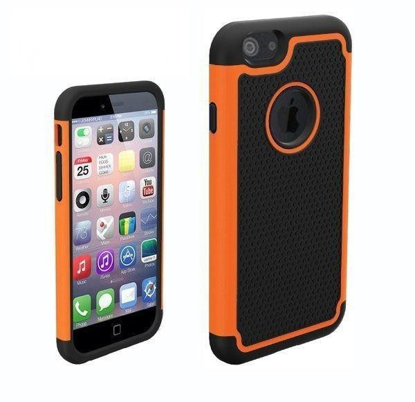 Funda de goma protectora para Iphone 6 color naranja