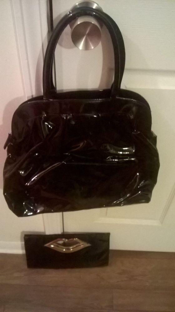 Womens patent leather Nordstrom clutch handbag lot #Nordstrom #Clutch