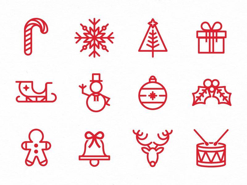 Christmas Holidays Icon.Just Because Holiday Icons Holiday Marketing Christmas