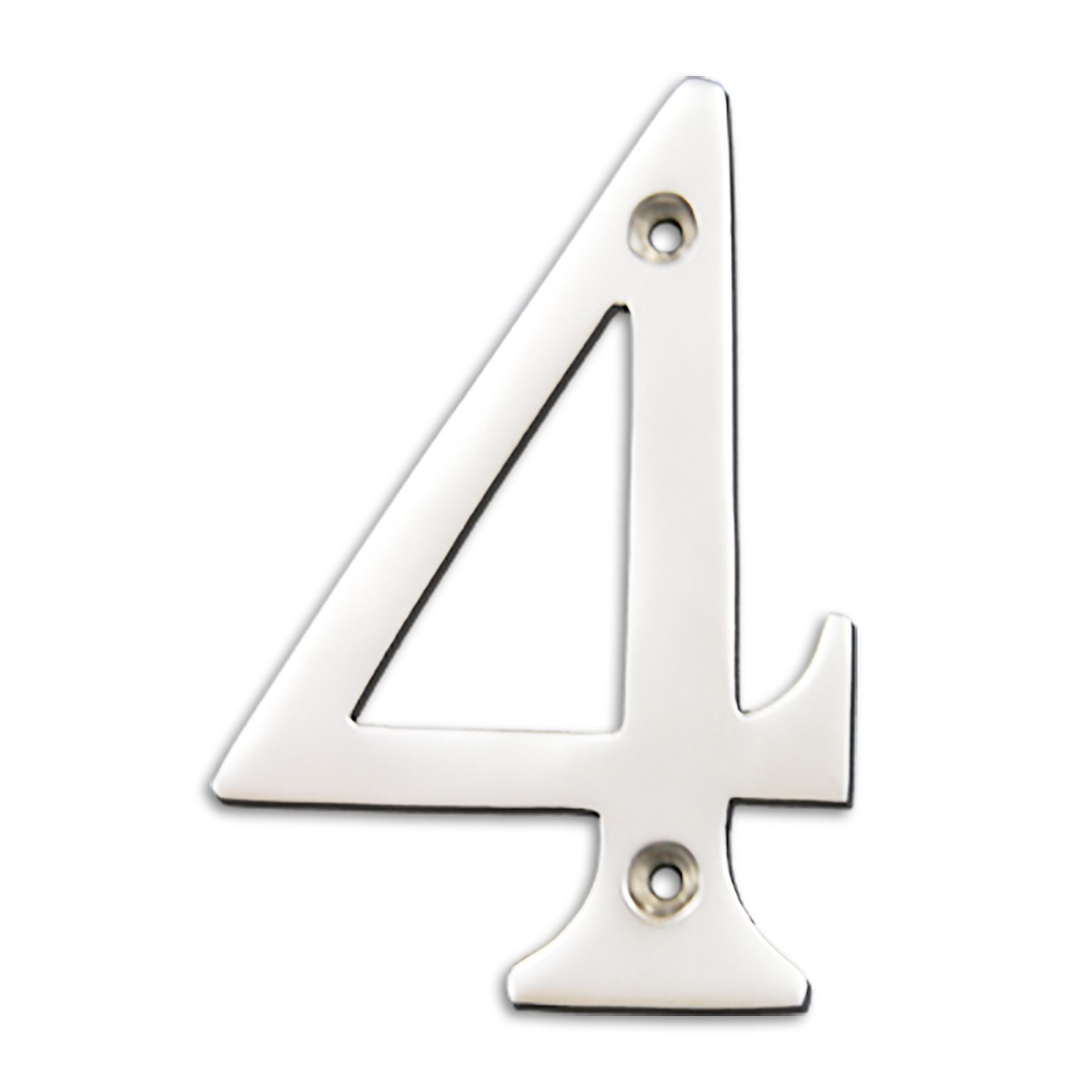Polished Chrome 4 Polished Chrome 4 Inch Solid Brass House Number Product From Rch Hardware S Decorat House Numbers Traditional House Numbers Polished Chrome