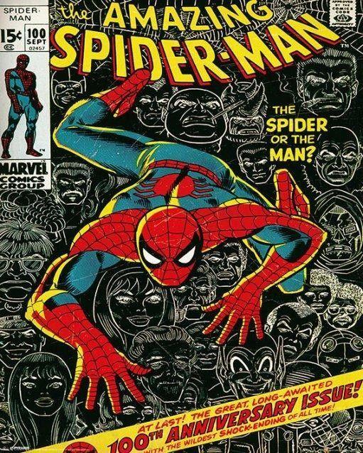 """Marvel """"Spider-man cover"""" plakat (40 x 50 cm) - Alle produkter"""