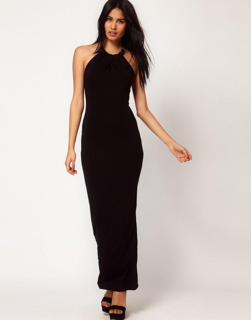 Comprar vestido negro largo