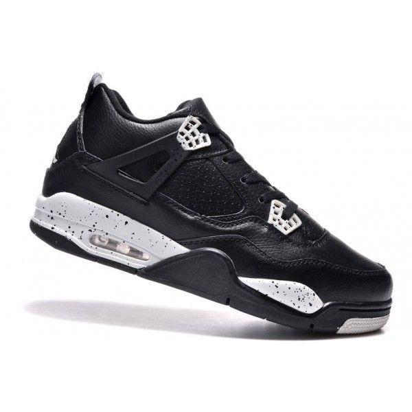 air jordan 4 black leather white speckle 2015 retro oreo mens save 55% off
