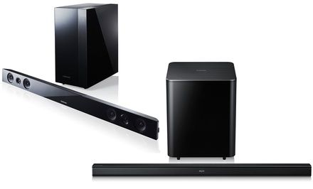 Samsung 2.1-Channel Bluetooth Sound Bars with Wireless Subwoofers from $149.99–$169.99 (Manufacturer Refurbished, 58% off)  Exp: Nov/7/2014. More deals at: www.dealleak.com.