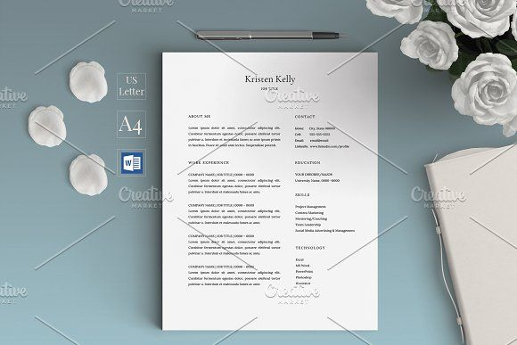 Minimalist Resume Template Simple Minimalist Resume Templatecv  Resume Cv Cv Template And .