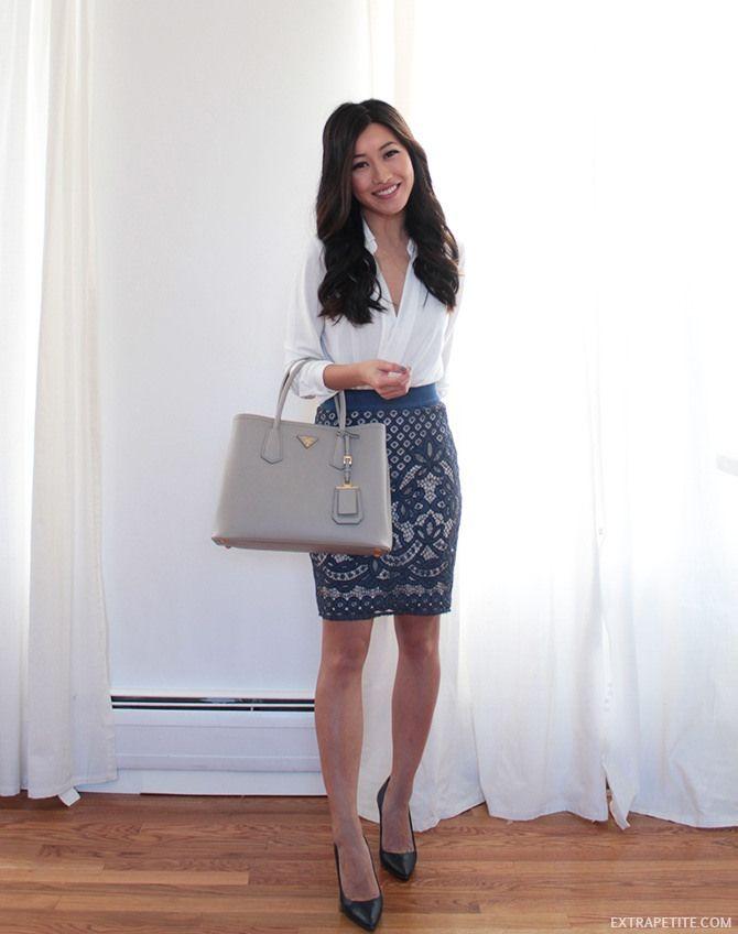 4f38f639432a Prada Saffiano Cuir bag review   work outfit idea    lace pencil skirt