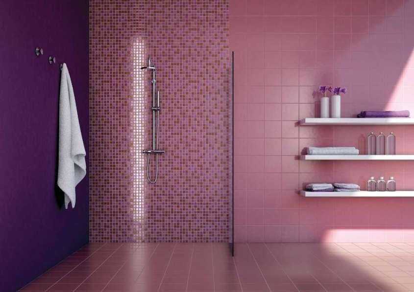Piastrelle mosaico in bagno casa bagno doccia
