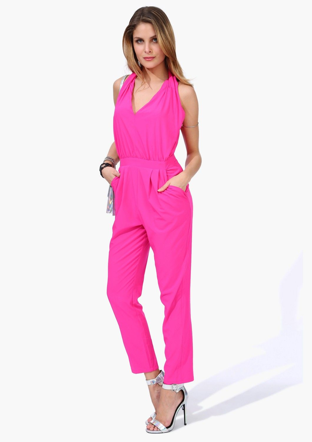 Bright one piece. A v neckline with loose fit. | Clothing and Style ...