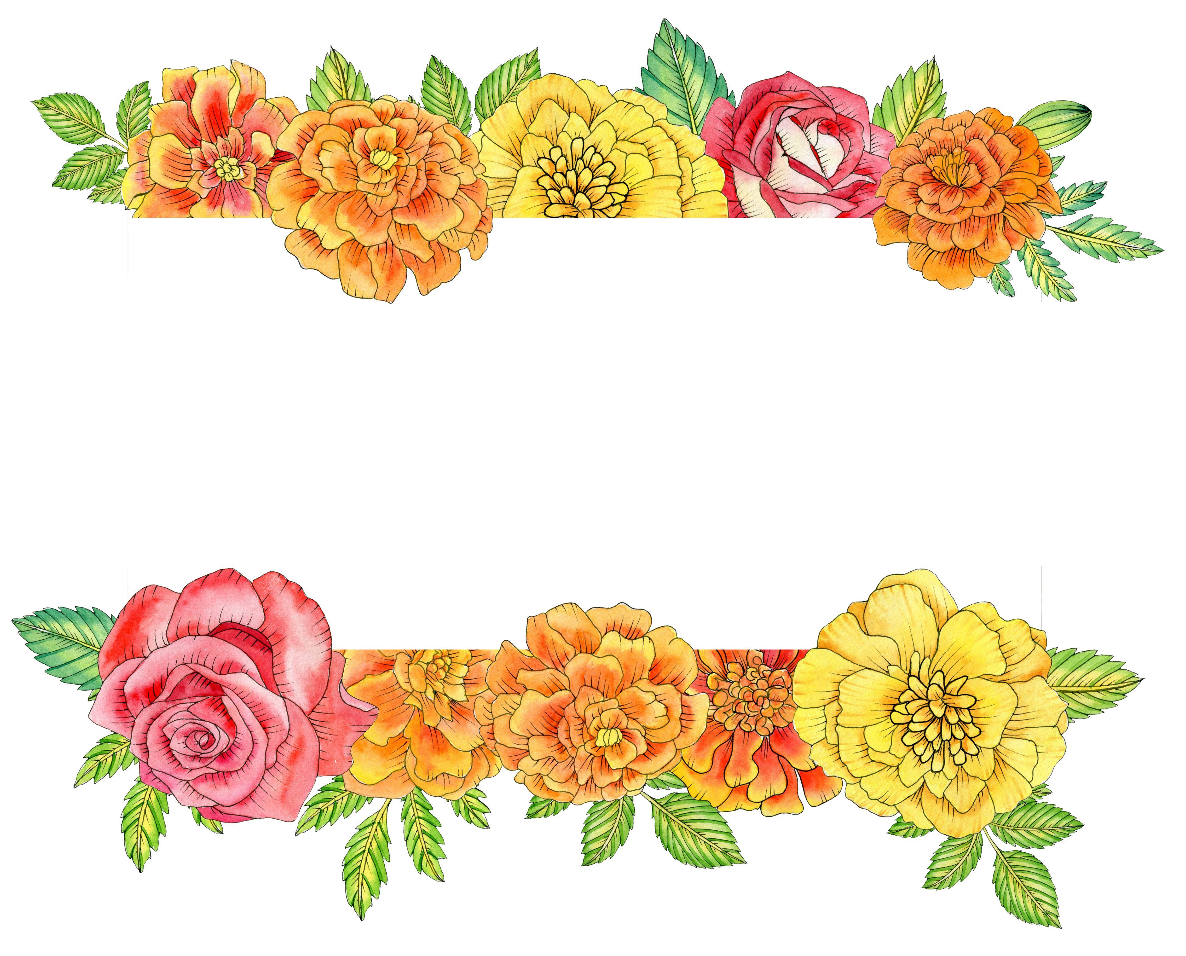 Watercolor Mexican Floral Arrangements Clipart El Dia De Etsy Wreath Clip Art Autumn Invitations Clip Art