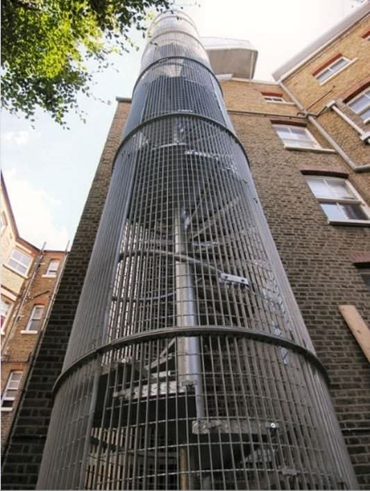 Fire Escape Cambridge Mansions Demax Staircases