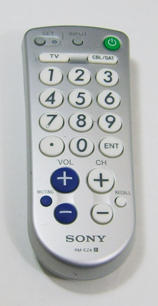 Sony RM-EZ4 Remote Control Big Button Universal Remote