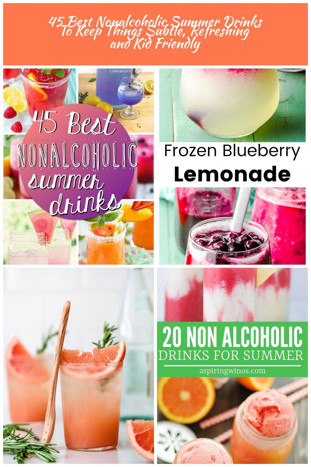 Summer drink 45 Best Nonalcoholic Summer Drinks To Keep Things Subtle, Refreshing and Kid Friendly #nonalcoholicsummerdrinks