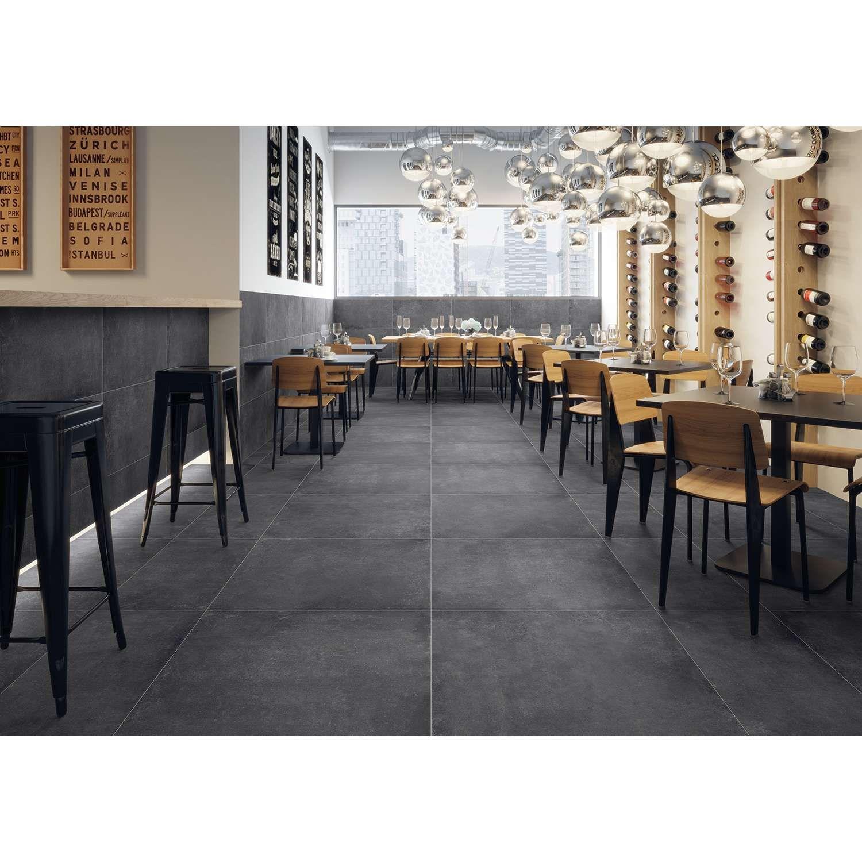 Fliesen betonoptik bodenfliese kingston anthrazit 80x80cm for Fliesen betonoptik 80x80