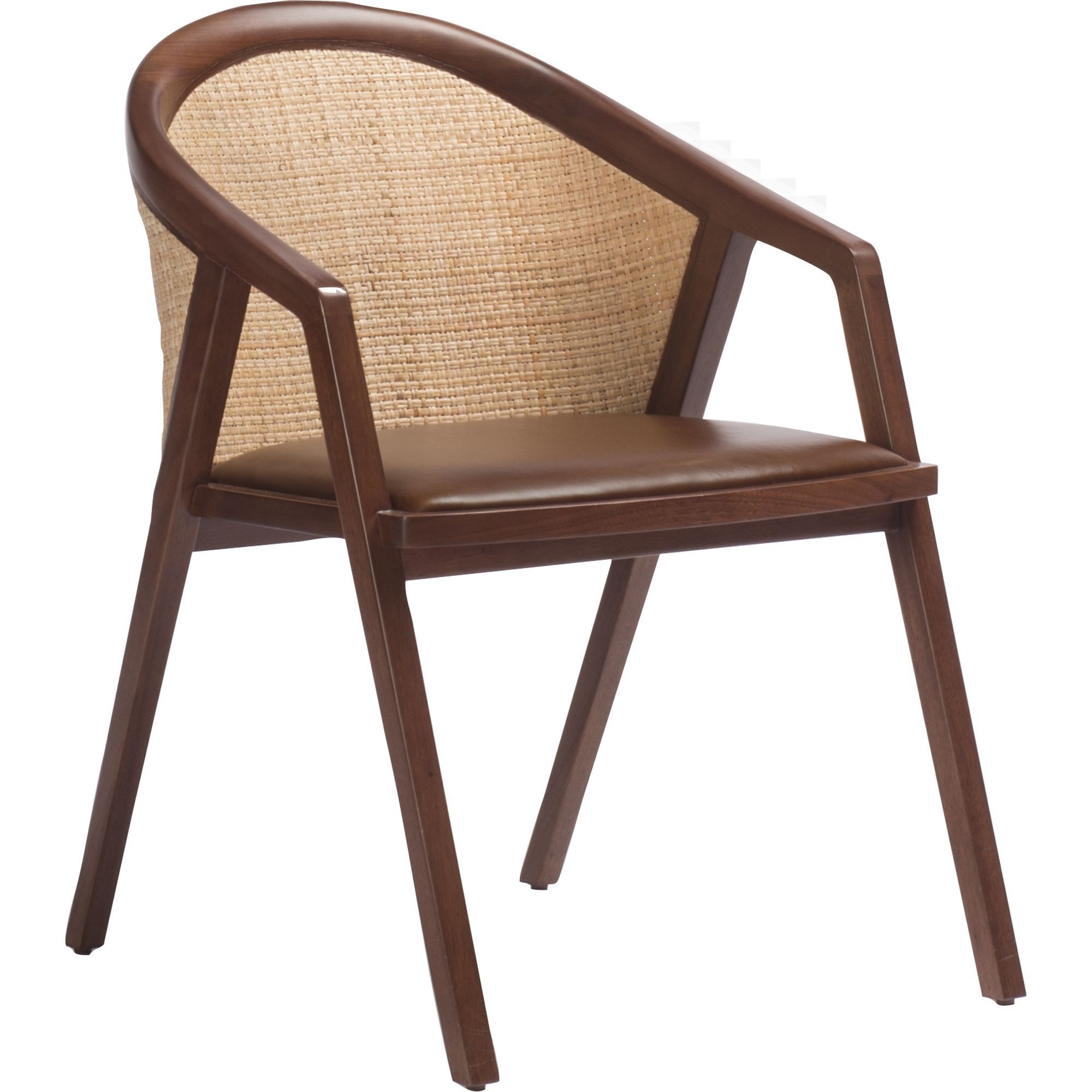 Buy Kiraku Dining Arm Chair By McGuire Furniture   Made To Order Designer  Furniture