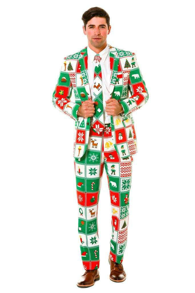 ugly christmas sweater suit by shinesty - Christmas Sweater Suit