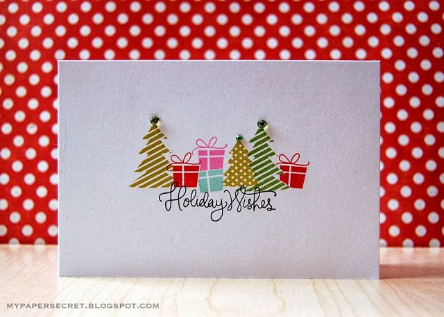 My Paper Secret: Holiday Wishes card by Cristina