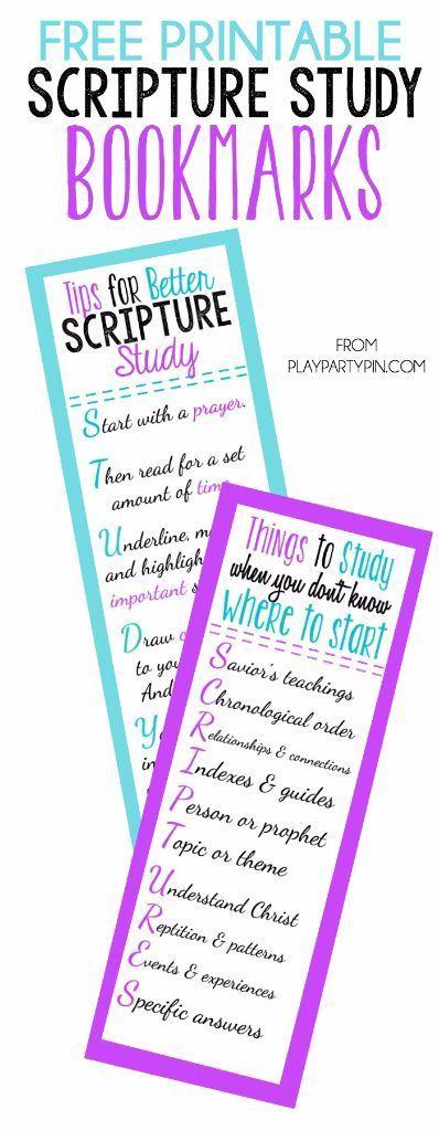 Free Printable Scripture Study Bookmark
