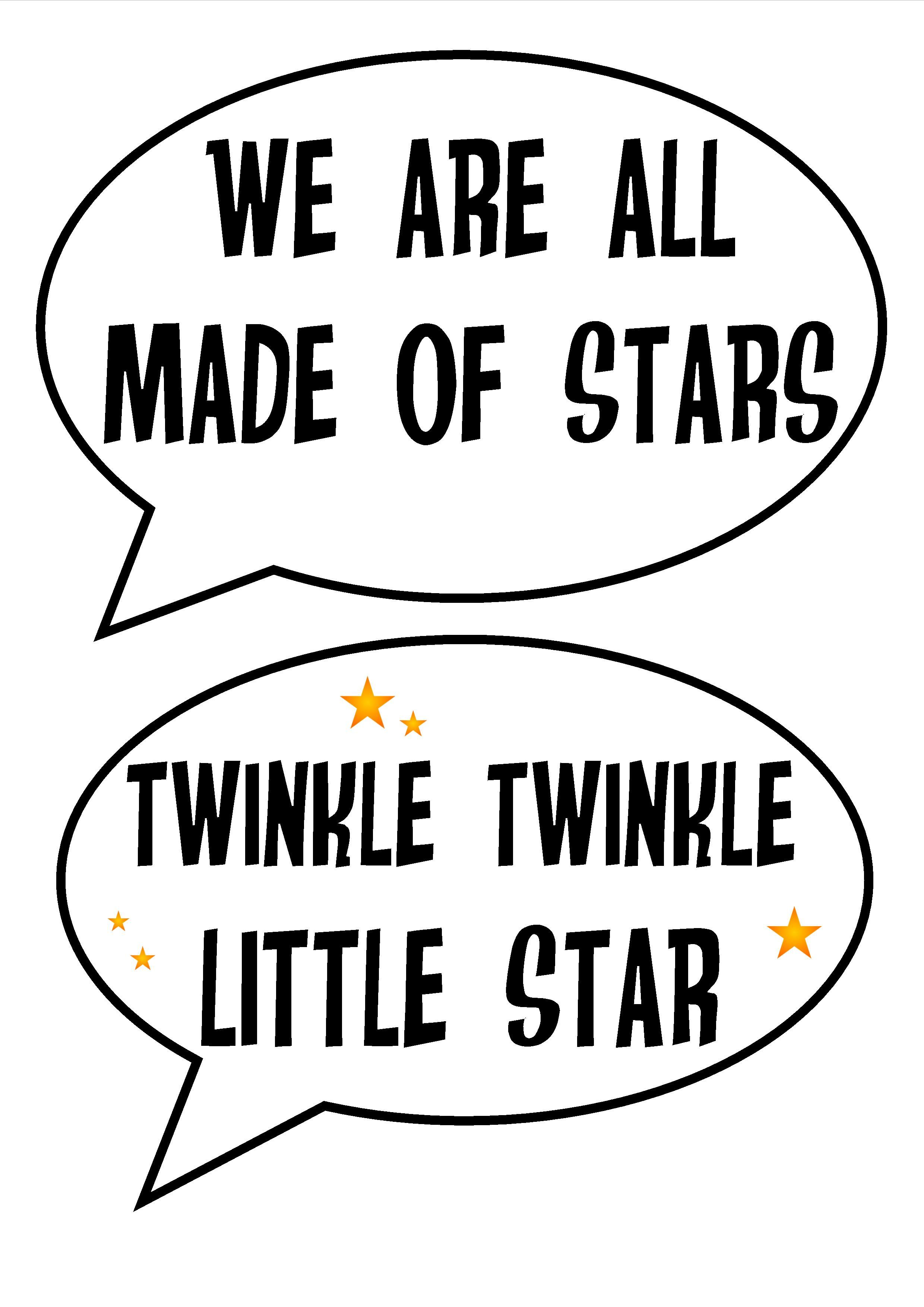 Free Printable Space Party Photobooth Astronomy Stars