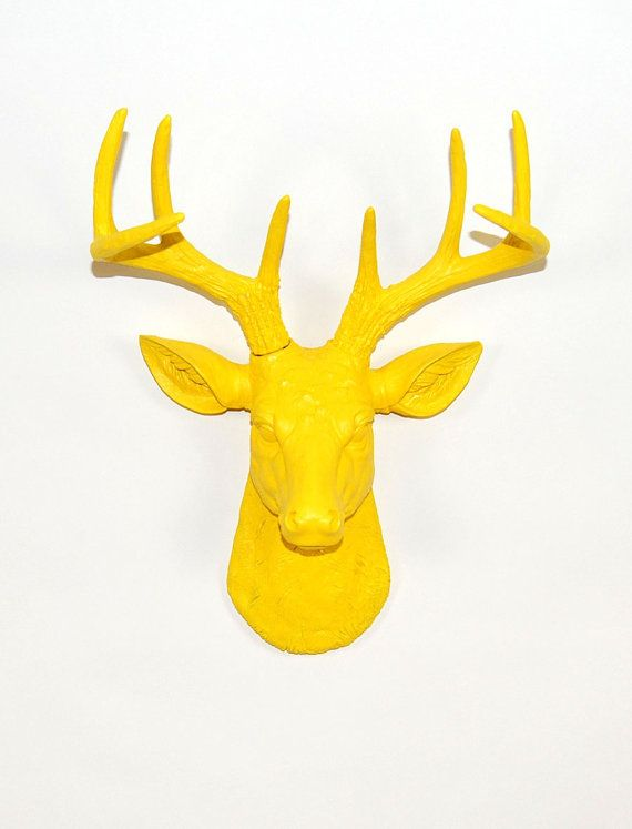 White Faux Taxidermy The MINI Pablo Yellow by WhiteFauxTaxidermy ...