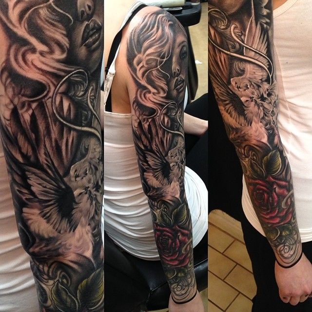 18 Amazing Leo Sleeve Tattoos: Cleo Wattenström Tattoo