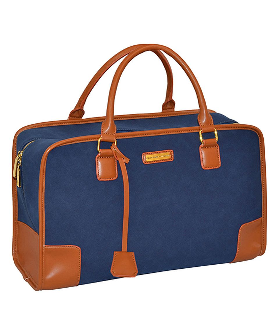f2e220777a Love this Adrienne Vittadini Navy Faux Suede Duffel Bag by Adrienne  Vittadini on  zulily!  zulilyfinds