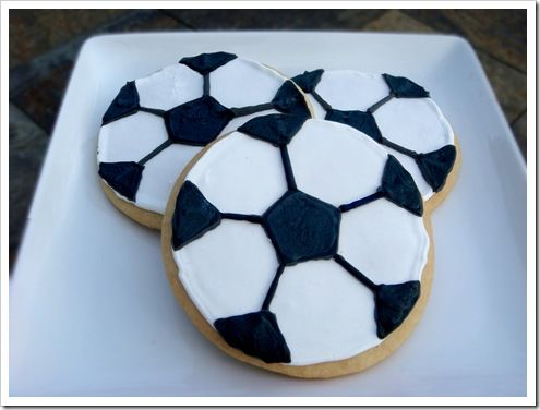 Soccer cookies made by Super Star Sheila!!!