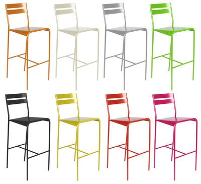 Fermob Facto Bar Chair Red Made In Design Uk In 2020 Bar Chairs Metal Chairs Chair