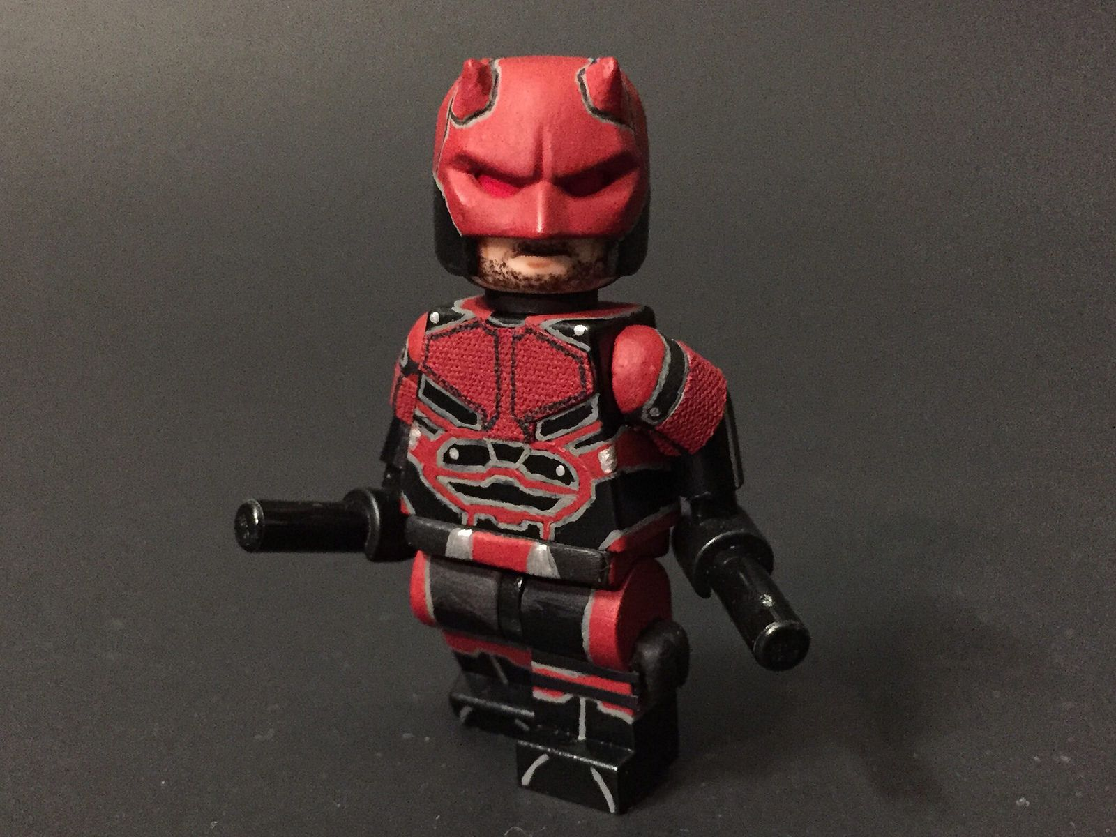 CUSTOM LEGO MINIFIGURE Daredevil from Marvel Comics