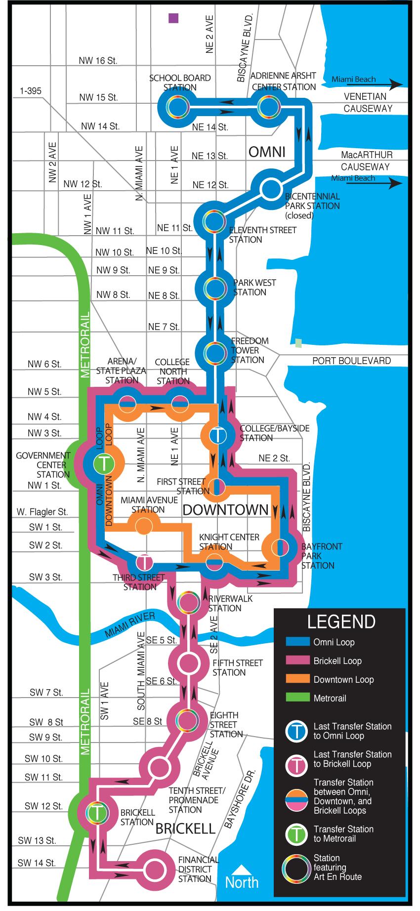 Miami metromover mappng  Travel Miami  Pinterest  Miami