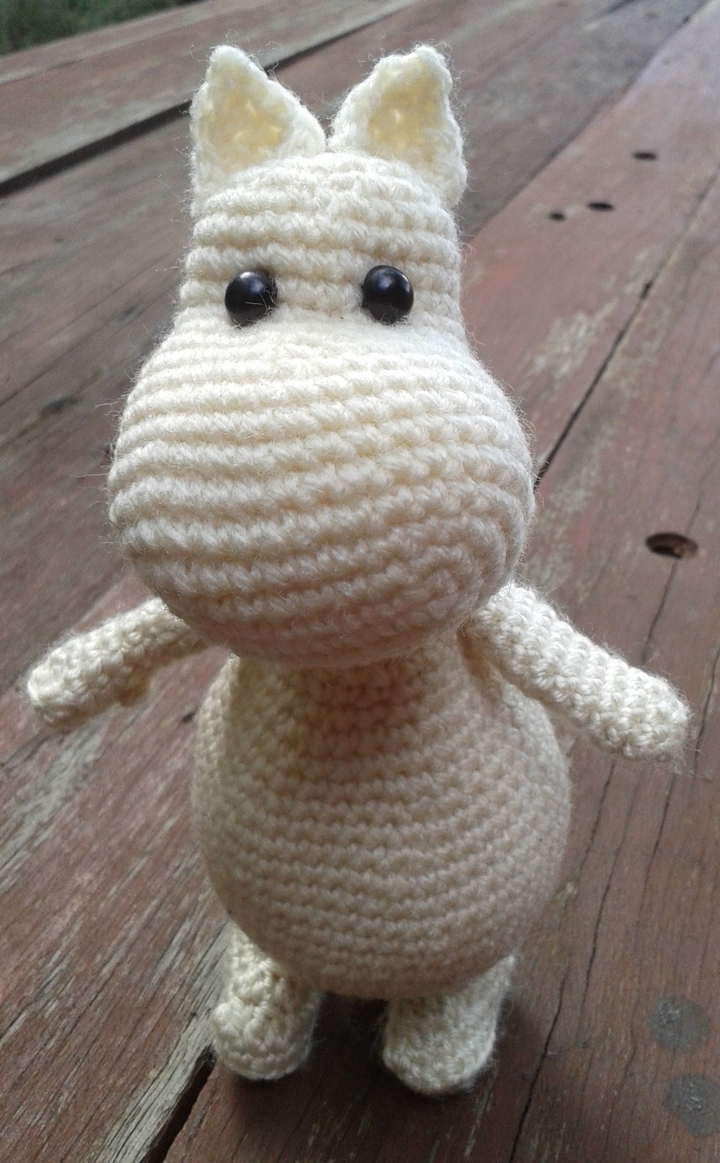 Moomintroll (Moomin). Project notes and pattern info here; http ...