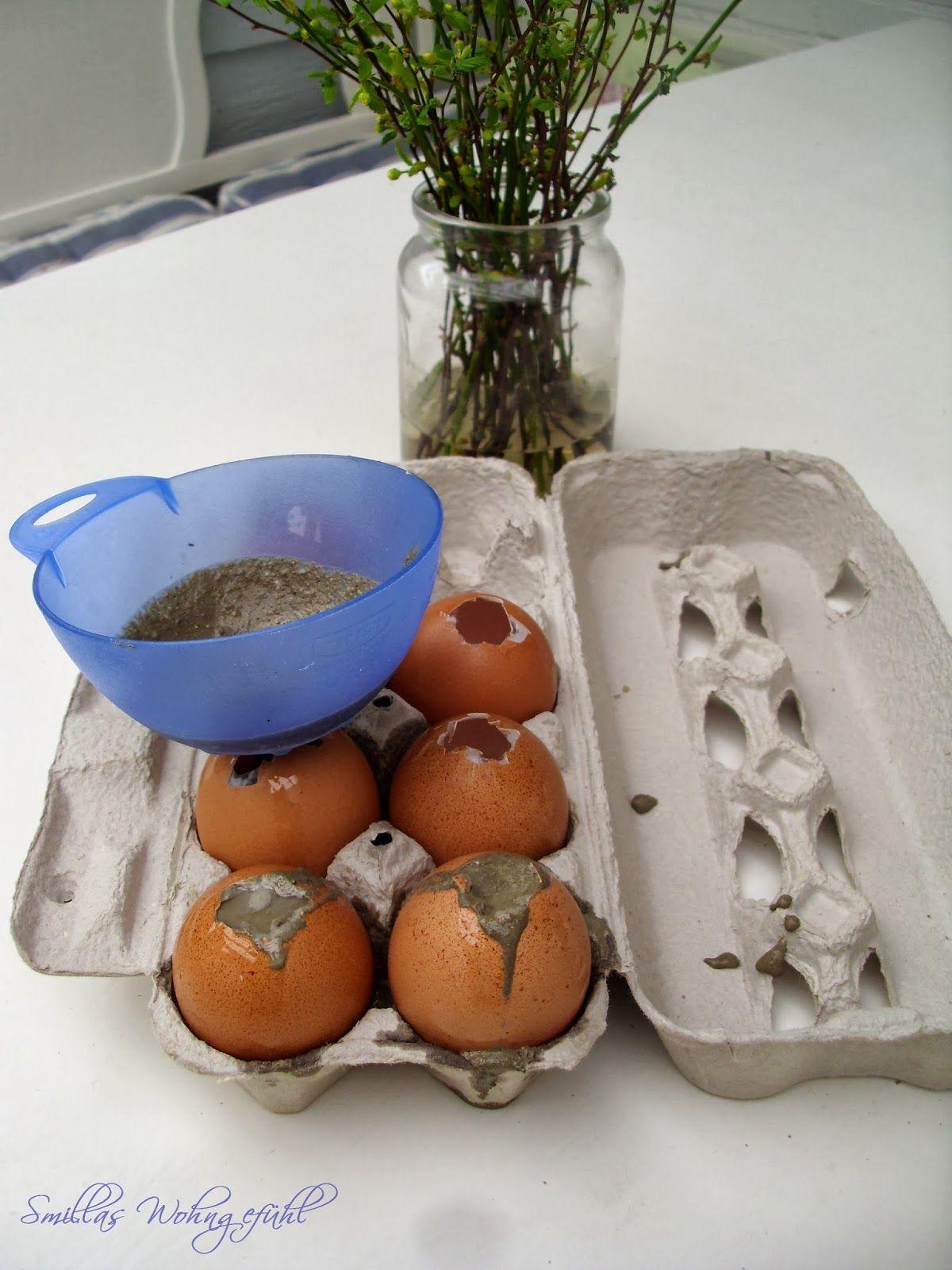 smillas wohngefühl: diy: concrete easter eggs oder habt ihr schon, Gartengerate ideen
