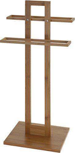 Bambus Handtuchhalter - Stummer Diener - Holz Handtuch Ständer - handtuchhalter für küche