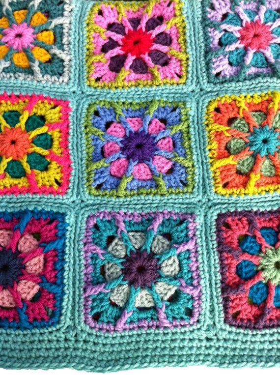 Crochet bebé manta ganchillo bebé afgano a mano abuela | mantas ...