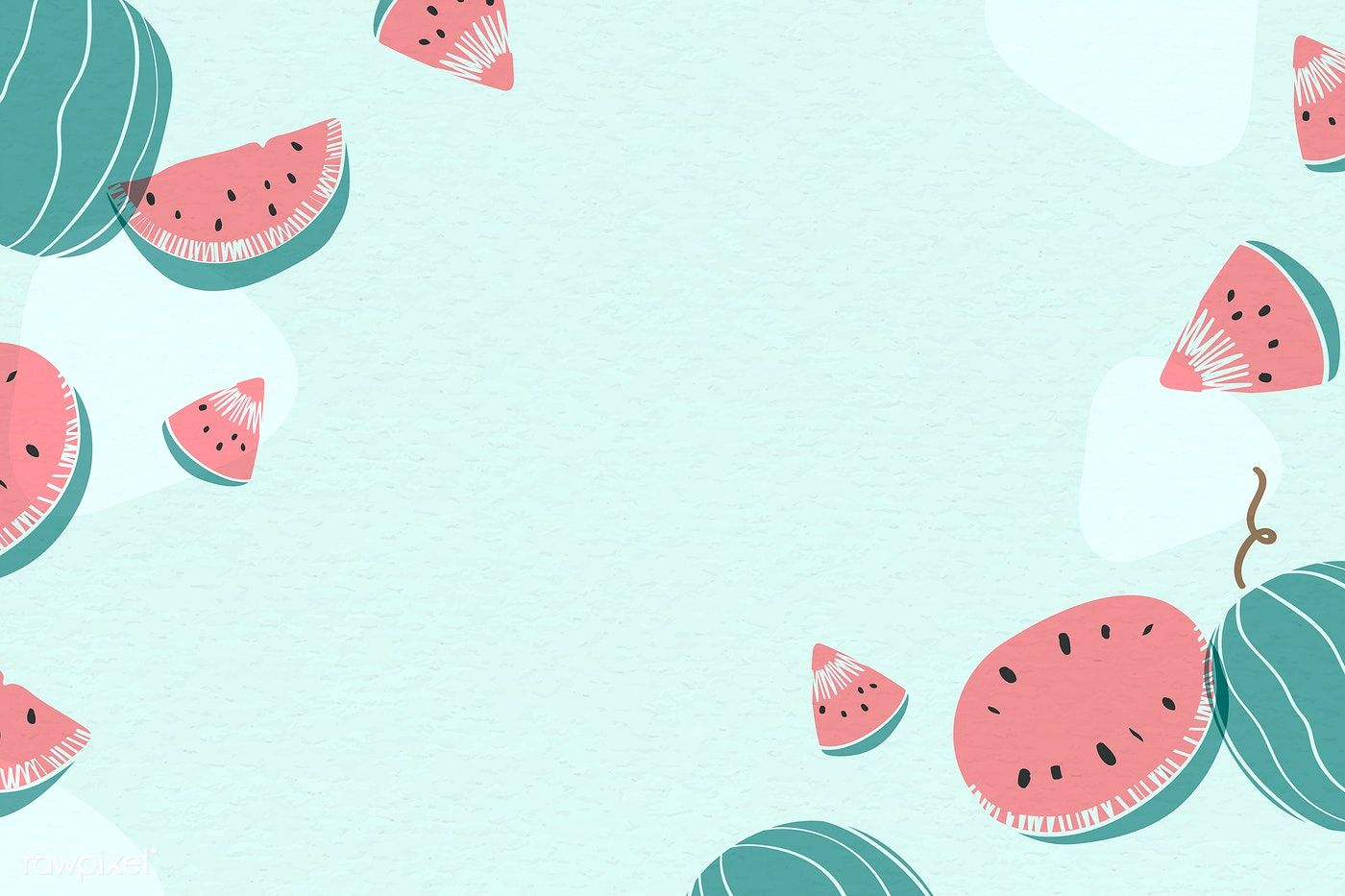Download Premium Vector Of Watermelon Patterned Background With Design Watermelon Background Powerpoint Background Design Background Patterns