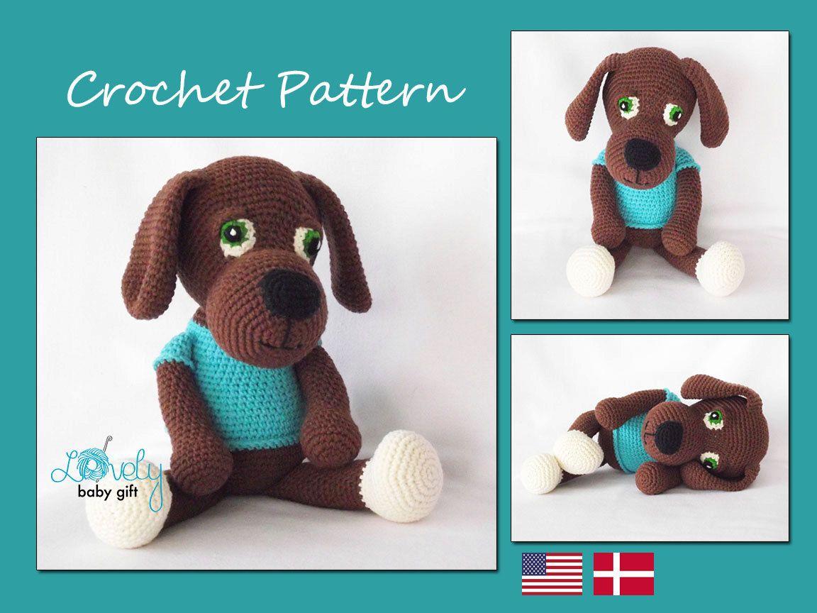 Puppy Crochet Pattern, Amigurumi Pattern, Brown Dog, Animal Pattern ...