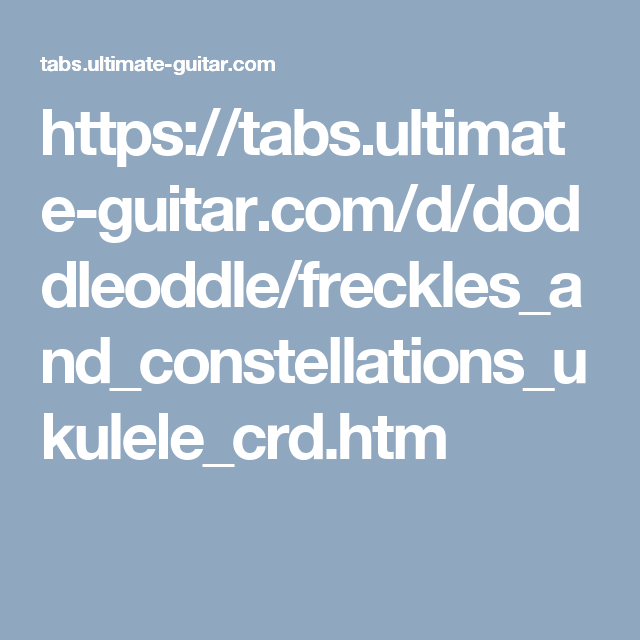 https://tabs.ultimate-guitar.com/d/doddleoddle ...